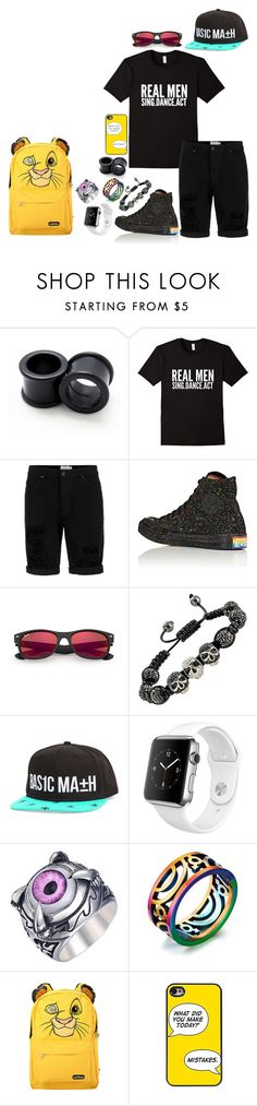 """Just dance... Xxx"" by yo-tis-lil ❤ liked on Polyvore featuring Topman, Converse, Ray-Ban, Basic Math, Apple and Disney"