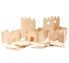 Edificio modular paredes, Manzanita Kids Classic Deluxe, edificio de madera de juguete