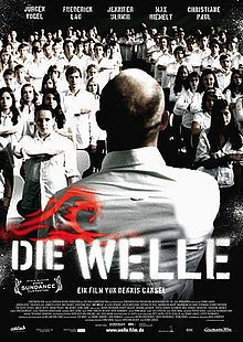 Die Welle (English: The Wave) is a 2008 German film directed by Dennis Gansel and starring Jürgen Vogel, Frederick Lau, Jennifer Ulrich and Max Riemelt in the leads. It is based on Ron Jones' social experiment The Third Wave. The film was produced by Christian Becker for Rat Pack Filmproduktion. It was quite successful in German cinemas, and after 10 weeks 2.3 million people had watched the film.