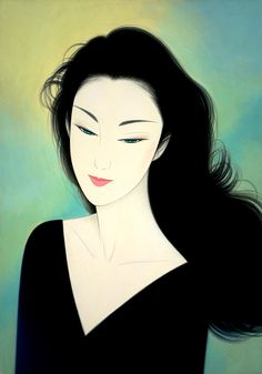 Ichiro Tsuruta is a Japanese visual artist, was born in 1954 in the city of Hondo in Kumamoto Prefecture, Ichiro Tsuruta grew up in Kyushu's Amakusa Region, Japan. Art Pop, Geisha Art, Art Asiatique, Japan Art, Japanese Artists, Face Art, Art Girl, Vector Art, Fantasy Art