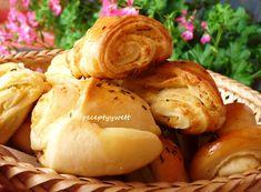 Fotorecept | Cesnakovo-syrové chuťovky z kysnutého cesta Croissant, Garlic, Appetizers, Potatoes, Bread, Vegetables, Food, Pastel, Easy Delicious Recipes