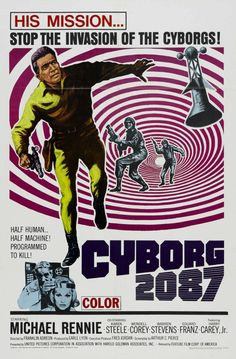 Watch Cyborg 2087 full hd online Directed by Franklin Adreon. With Michael Rennie, Karen Steele, Wendell Corey, Warren Stevens. Earth's civilization of the future sends a cyborg back to the 1 Horror Movie Posters, Concert Posters, Horror Movies, Karen Steele, Classic Sci Fi Movies, Film Science Fiction, Fiction Film, Pulp Fiction, Vintage Movies