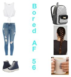 """""""Bored AF 56"""" by lauren311-1 ❤ liked on Polyvore featuring Converse, Frame Denim, Monki and Betsey Johnson"""