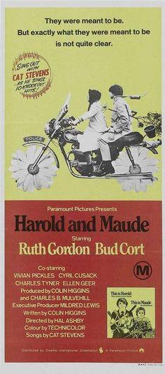 Harold and Maude Movie POSTER 20 x 40 Ruth Gordon Bud Cort Vivian Pickles, A