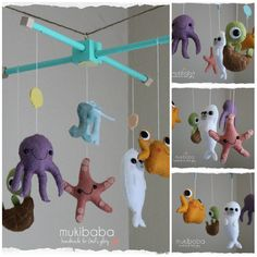 BABY CRIB MOBILE  baby mobile  baby crib mobile  under by mukibaba, $79.00