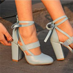 416cdb0a8fa74 Women Pumps Comfortable Thick Heels Women Shoes Brand High Heels Ankle  Strap Women Gladiator Heeled Sandals 8.5CM Wedding Shoes