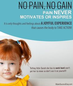 Pain provokes it doesn't inspire any action.