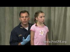 Conscious Child Choking. **Every parent should watch!** Excellent video by an EMT! How to clear the airway of a choking child, how to recognize signs of choking and how to give a child Heimlich maneuver. Links to: Unconscious Child Choking, Child CPR, Conscious and Unconscious Infant Choking, and Infant CPR as well!