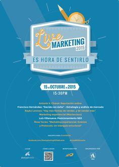 """Si te apetece y puedes nos podemos ver en """"Live Marketing 2015 – Alicante"""", el jueves 15 de Octubre. Se trata de un evento organizado por Aire, agencia de marketing experiencial, global e integrada que cree en el poder de la conversación (blog de Aire)."""