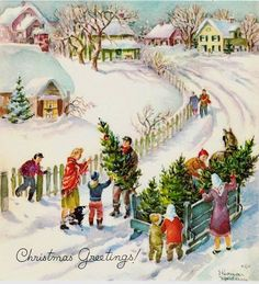 Indoor and Outdoor Christmas Decorations Vintage Christmas Images, Antique Christmas, Retro Christmas, Vintage Holiday, Christmas Pictures, Vintage Images, Old Time Christmas, Old Fashioned Christmas, Christmas Scenes