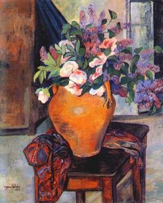 Suzanne Valadon「Lilacs and Peonies」(1928)