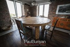 Okrągły stół drewniany ze starego drewna Stoły drewniane ze starego drewna