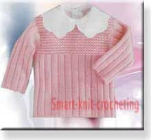 step by step instructions to knit and design a baby sweater