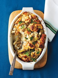 Artichoke and Goat Cheese Strata recipe