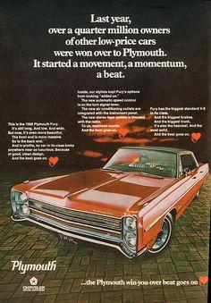 1968 Plymouth Fury Advertisement Playboy November 1967   by SenseiAlan