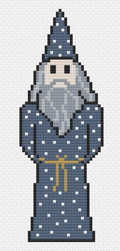 Dumbledore Harry Potter Cross Stitch Pattern by LitStitches