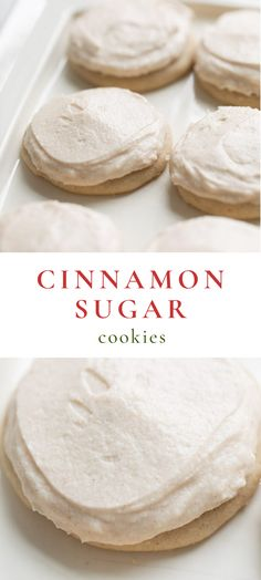 Incredible Cinnamon Sugar Cookies topped with Cinnamon Frosting are made staple ingredients and are quick and easy to make. This Cinnamon Sugar Cookie Recipe is a blend of a snickerdoodle and sugar cookie that youll make time and time again. Cinnamon Sugar Cookies, Chewy Sugar Cookies, Rolled Sugar Cookies, Sugar Cookies Recipe, Cookies Et Biscuits, Quick Cookies, Frosted Cookies, Ginger Cookies, Köstliche Desserts