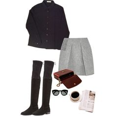A fashion look from April 2015 featuring sleeve top, short mini skirts and black suede over the knee boots. Browse and shop related looks. Kenzo, My Outfit, Stuart Weitzman, Stella Mccartney, Prada, Polyvore, Stuff To Buy, Outfits, Shopping