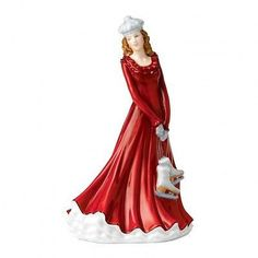 2014 Christmas Petite of the Year Skating Season figurine HN 5675 Brand New In Box The annual Christmas figurines have romantic designs combining elaborate dresses, coats and luxurious accessories wit Thomas Kinkade, Royal Doulton, China Dolls, Christmas Figurines, Victorian Christmas, Vintage Christmas, Petite Women, China Porcelain, Porcelain Doll