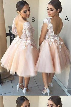 Ball Gown Prom Dresses, Crispy Bateau Cap Sleeves Short Light Champagne Bridesmaid Dress with Lace Top Patchwork Rose Dress Gold Bridesmaid Dresses Uk, Lace Party Dresses, Bridal Dresses, Lace Dress, Duck Egg Blue Bridesmaid Dress, Knee Length Bridesmaid Dresses, Knee Length Dresses, Flower Girl Dresses, Prom Dresses