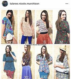 Lularoe perfect tee shown in 8 sizes. Shop this look here: https://www.facebook.com/groups/shoplularoenicolemurchison/