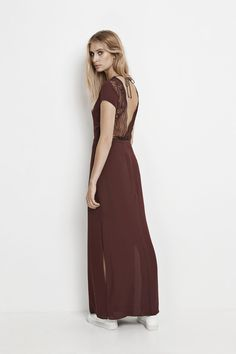 Isar long dress 3973, DECADENT CHOCO