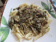 Les #pâtes aux #artichauts : une #recette italienne #penne rigate ai #carciofi : #buonissimo !