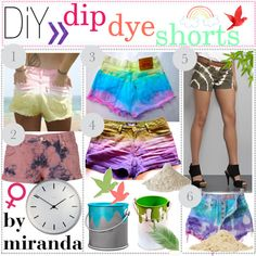 Night to Class out: dip dye shorts rare photo