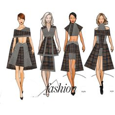 A fashion look from December 2015 featuring cape coats and tweed coat. Browse and shop related looks. Dress Design Sketches, Fashion Design Drawings, Fashion Sketches, Fashion Forms, Art Deco Fashion, Fashion Games, Fashion Outfits, Fashion Sketch Template, Fashion Illustration Collage
