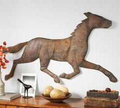 Bronze Finish Horse Wall Art