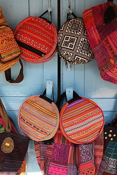 Bags for sale in Luang Prabang, Laos. Perfect souvenirs made locally from  traditional textiles a9de190cb2