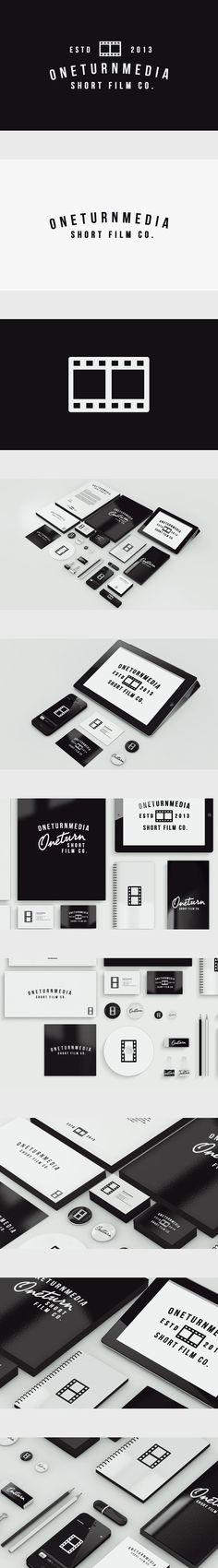 OneTurnMedia by Jørgen Grotdal, via Behance #branding #identity #stationary