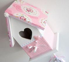 Vogelhuisje wit/roze incl. muziekdoosje #vogelhuisje #muziekdoosje #kinderkamer