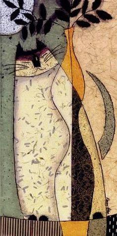Art Print: Cat II by Penny Feder : 16x8in