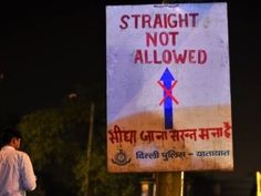 This heterophobic sign. | 23 Hilarious Notices From India That Will Definitely Get Your Attention