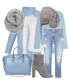 """""""Winter blue"""" by nystylequeen ❤ liked on Polyvore featuring MaxMara, James Perse, Givenchy, 81hours, Halogen, AG Adriano Goldschmied and Gianvito Rossi"""