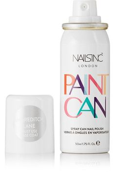 Instructions for use: Apply a [base coat id634484] to create a base, or apply directly over polished nails for a quick color change Cover and protect the surface you are spraying on to Shake the can and spray evenly onto the nail from a distance of around 10-15cm  Apply a [top coat id549776] and allow to dry  Wash your hands in warm soapy water to remove any excess polish from skin and cuticles  or use a cleansing wipe when on the go 50ml/ 1.75fl.oz. Made in France