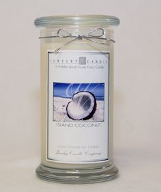 New Island Coconut Jewelry Candle with A Ring Necklace Earrings or Bracelet title='Je. Best Candles, Soy Candles, Scented Candles, Jewelry Candles, Gift Card Giveaway, Amazon Gifts, Smell Good, Diy Gifts, Perfume Bottles