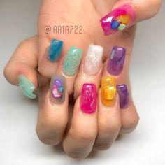 Nails To Go, Luv Nails, Dope Nails, Pretty Nail Art, Cute Nail Art, Cute Acrylic Nails, Builder Gel Nails, Mary Janes, Korean Nails