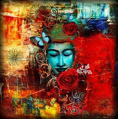 """Emerge"" custom prints and cards. Abstract art, spiritual art."