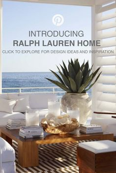 Suivez la nouvelle page Pinterest officielle de Ralph Lauren Home.