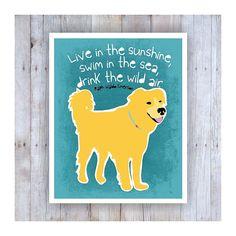 Golden Retriever Art Golden Retriever Poster by GoingPlaces2