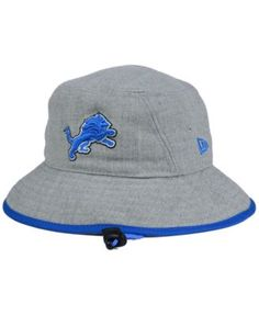 New Era Detroit Lions NFL Heather Gray Bucket Hat Men - Sports Fan Shop By  Lids - Macy s 6d931e591bdb