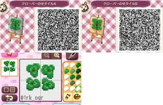 Clover Stepping Stones Klee-Sprungbrett Source by amazingpinssite Acnl Qr Code Sol, Pixel Art, Animal Crossing Qr Codes, Acnl Paths, Theme Nature, Motif Acnl, Ac New Leaf, Post Animal, Stone Path
