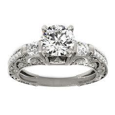 Transcendent Brilliance 14k Gold 1 1/3ct TDW White Diamond Antique Style Engagement Ring (F-G, VS1-VS2) (