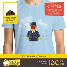 (EN) TIME IS RUNNING OUT! 4 hours left to grab our exclusive t-shirt: WWW.WISTITEE.COM (FR) LE TEMPS VOUS EST COMPTE ! 4 heures pour réserver notre t-shirt exclusif : WWW.WISTITEE.COM  #Lego #brique #brick #PlasticBrick #homme #man #surrealisme #surrealism #art #artist #artiste #LeFilsDeLHomme #TheSonOfMan #Magritte #ReneMagritte #Cowaca #wistitee #design #tshirt #mypushup http://ift.tt/1GHJQNK