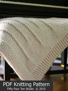 Blanket KNITTING PATTERN / Throw / Knit / por FiftyFourTenStudio