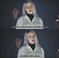 Best Billie Eilish Quotes That Will Flex Human's MindShe is the young girl and began her career with singing. Billie Eilish quotes gained lots of popularity New Quotes, Lyric Quotes, Girl Quotes, Inspirational Quotes, Qoutes, Meaningful Quotes, Sad Movie Quotes, Babe Quotes, Billie Eilish