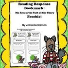FREEBIE!!! This reading response bookmark is a cute Big Bad Wolf and friends themed bookmark with spaces for your students to write about their favourite part...