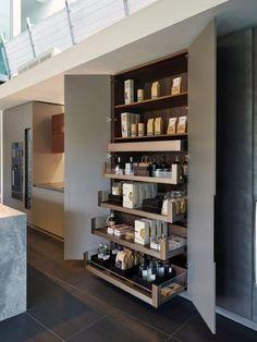 Pantry Door Diy Countertops Ideas For 2019 Kitchen Pantry Doors, Kitchen Pantry Design, Kitchen Organization Pantry, Kitchen Storage, Pantry Ideas, Kitchen Ideas, Pantry Storage, Organized Pantry, Kitchen Cabinets